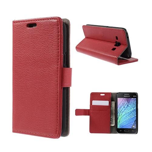 Mankell (Röd) Samsung Galaxy J1 Fodral med Plånbok
