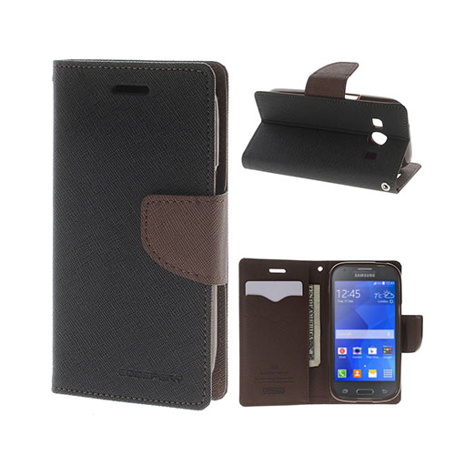 Mercury GOOSPERY Fancy Diary Fodral till Samsung Galaxy Ace 4 – Brun / Svart