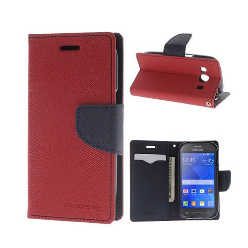 Mercury GOOSPERY Fancy Diary Fodral till Samsung Galaxy Ace 4 – Röd