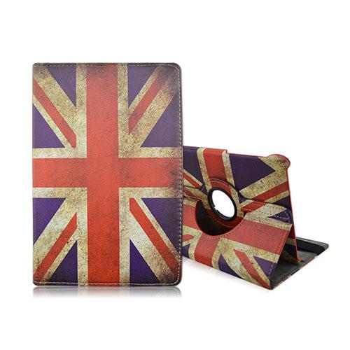 Moberg Samsung Galaxy Tab S2 9.7 Roterbart Läderfodral – Vintage UK Flagga