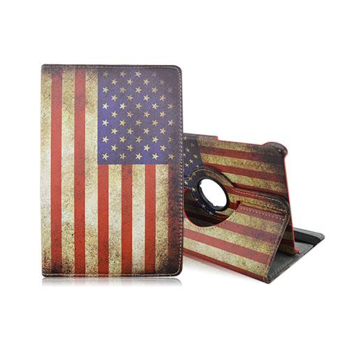 Moberg Samsung Galaxy Tab S2 9.7 Roterbart Läderfodral – Vintage USA Flagga