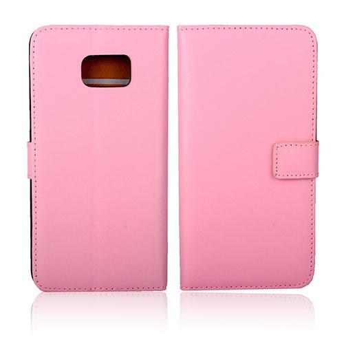 Kvist Äkta Läderfodral till Samsung Galaxy S6 Edge Plus – Rosa