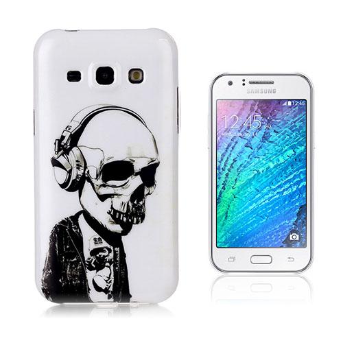 Westergaard Samsung Galaxy J5 Skal – Cool Dödskalle Har På Sig Hörlurar