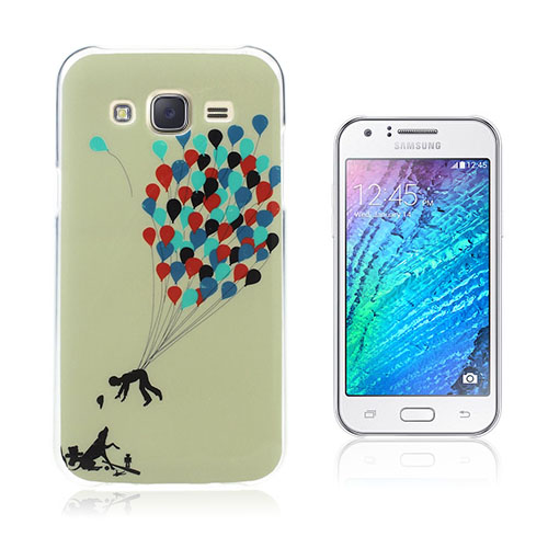 Wester Edge Samsung Galaxy J5 Skal – Man med Färgglada Ballonger