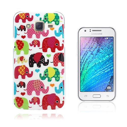 Wester Edge Samsung Galaxy J5 Skal – Färgglada Söta Elefanter