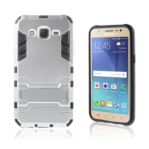 Cool Kick Samsung Galaxy J5 Skal med Kickstand – Silver