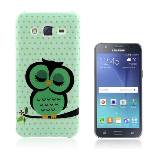 Westergaard Samsung Galaxy J5 Skal – Grön Sovande Uggla
