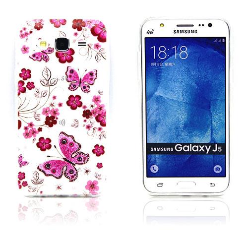 Westergaard Samsung Galaxy J5 Skal – Fjäril och Blomma