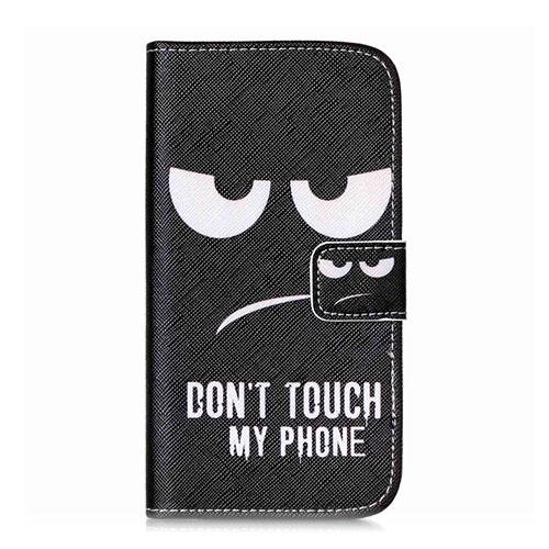Moberg Samsung Galaxy J5 Läder Flip Fodral – Don't Touch My Phone