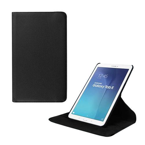 Jessen Samsung Galaxy Tab E 9.6 Roterande Läderfodral med Stativ – Svart