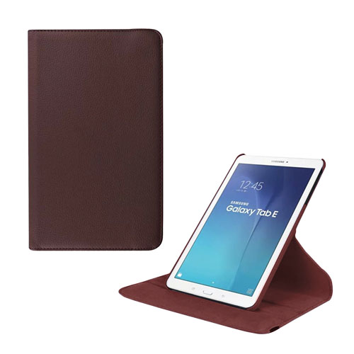 Jessen Samsung Galaxy Tab E 9.6 Roterande Läderfodral med Stativ – Brun