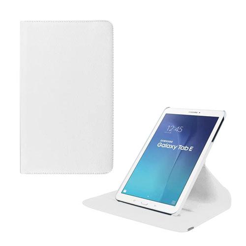 Jessen Samsung Galaxy Tab E 9.6 Roterande Läderfodral med Stativ – Vit