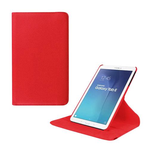 Jessen Samsung Galaxy Tab E 9.6 Roterande Läderfodral med Stativ – Röd