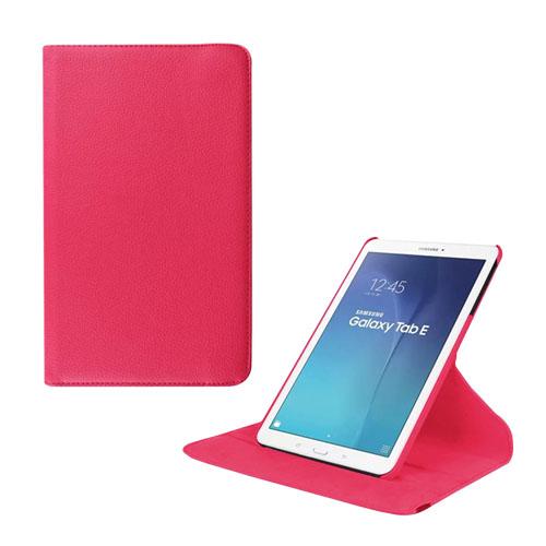 Jessen Samsung Galaxy Tab E 9.6 Roterande Läderfodral med Stativ – Ros