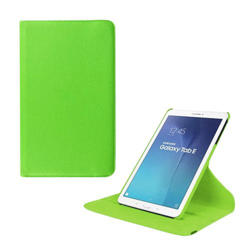 Jessen Samsung Galaxy Tab E 9.6 Roterande Läderfodral med Stativ – Grön