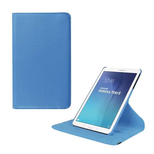 Jessen Samsung Galaxy Tab E 9.6 Roterande Läderfodral med Stativ – Ljusblå