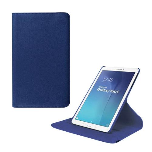 Jessen Samsung Galaxy Tab E 9.6 Roterande Läderfodral med Stativ – Mörkblå