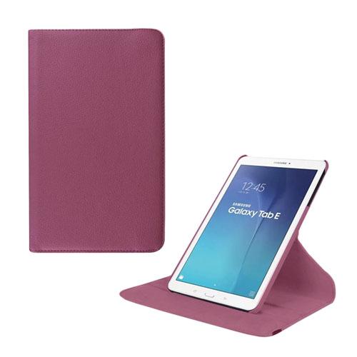 Jessen Samsung Galaxy Tab E 9.6 Roterande Läderfodral med Stativ – Lila