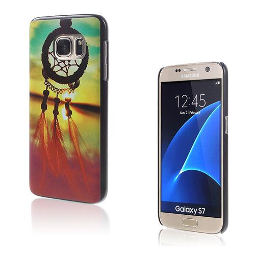 Image of   Persson Hårdplast Skal Till Samsung Galaxy S7 - Solnedgång Drömfångare