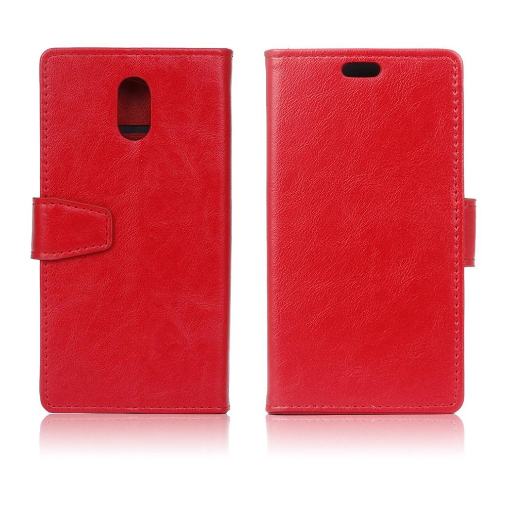 Samsung Galaxy J5 (2017) Enfärgat läder fodral - Röd