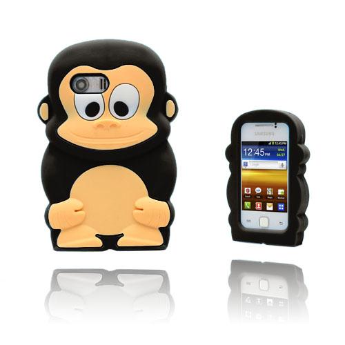 Funny Monkey (Svart) Samsung Galaxy Y Skal