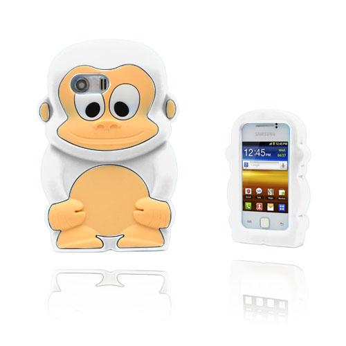 Funny Monkey (Vit) Samsung Galaxy Y Skal
