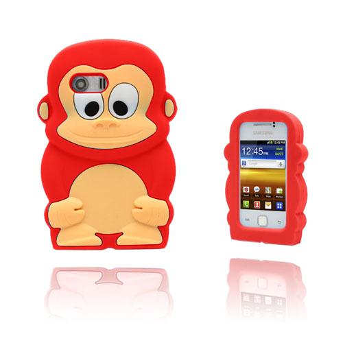 Funny Monkey (Röd) Samsung Galaxy Y Skal