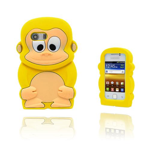 Funny Monkey (Gul) Samsung Galaxy Y Skal
