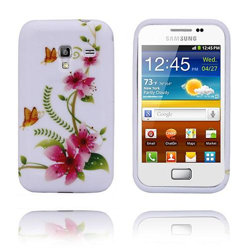 Symphony (Orange Fjärilar) Samsung Galaxy Ace Plus Skal