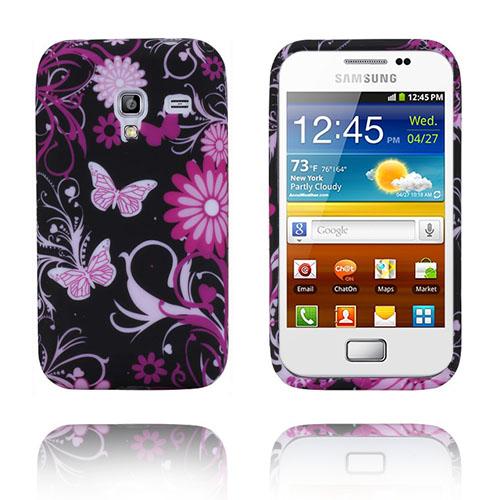 Symphony (Rosa Fjärilar) Samsung Galaxy Ace Plus Skal