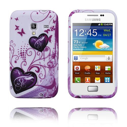 Symphony (Lila Hjärtan) Samsung Galaxy Ace Plus Skal