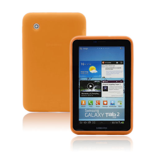 Soft Shell (Orange) Samsung Galaxy Tab 2 7.0 Skal