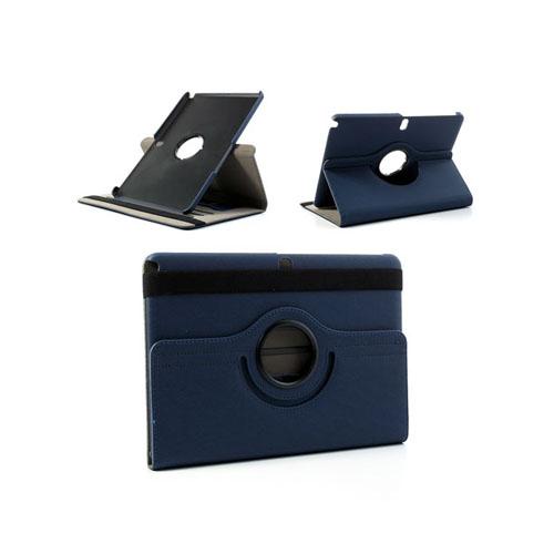 360Degree (Blå) Samsung Galaxy Note 10.1 (2014 Edition) Läderfodral