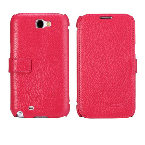 Ambassador (Rosa) Samsung Galaxy Note 2 Genuint Läderfodral