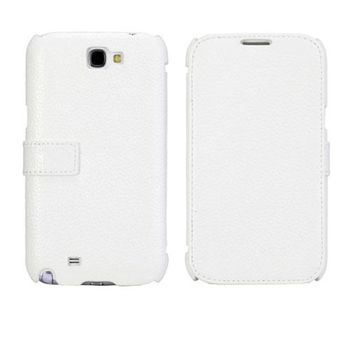 Ambassador (Vit) Samsung Galaxy Note 2 Genuint Läderfodral