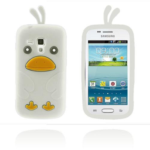 Funny Chicken (Vit) Samsung Galaxy Trend Skal