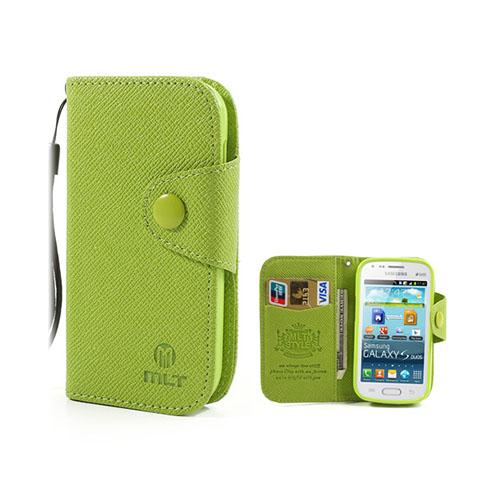 MLT (Grön) Samsung Galaxy Trend Läderfodral