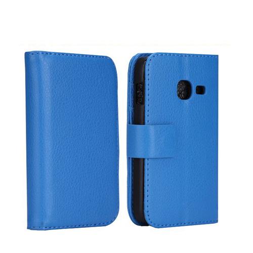 Wall Street (Blå) Samsung Galaxy Ace Duos Läderfodral