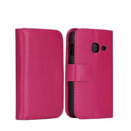 Wall Street (Rosa) Samsung Galaxy Ace Duos Läderfodral
