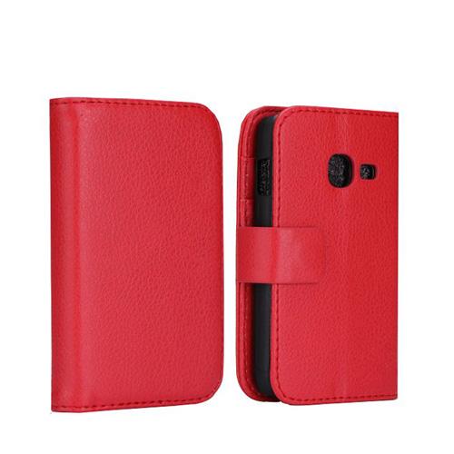 Wall Street (Röd) Samsung Galaxy Ace Duos Läderfodral