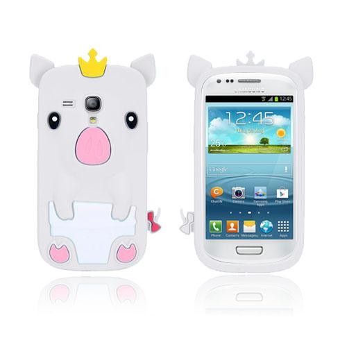 Piggy (Vit) Samsung Galaxy S3 Mini Skal