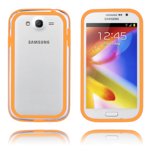 Anti-Stöt (Orange/Transparent) Samsung Galaxy Grand Duos Bumper