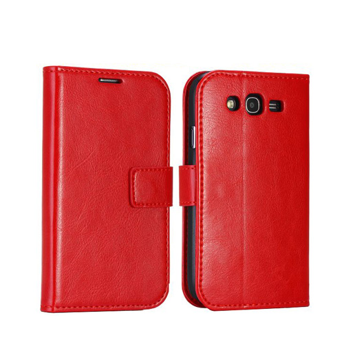 Wall Street (Röd) Samsung Galaxy Grand Duos Läderfodral