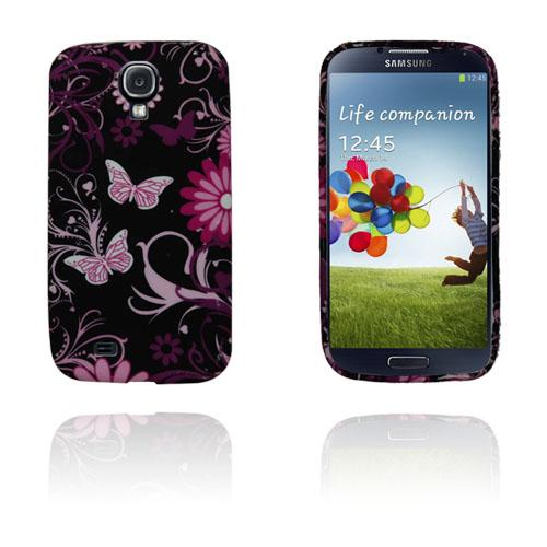 Symphony (Rosa Fjärilar) Samsung Galaxy S4 Skal