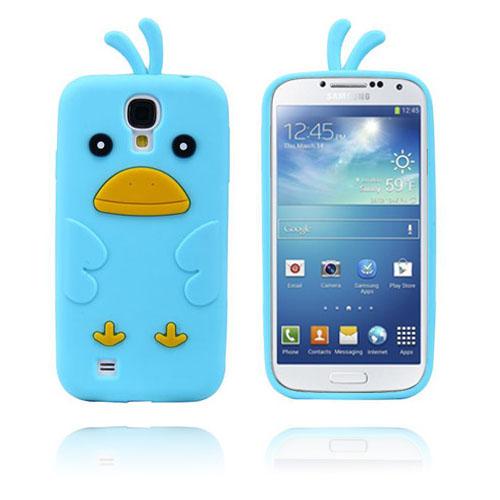 Funny Chicken (Ljusblå) Samsung Galaxy S4 Skal