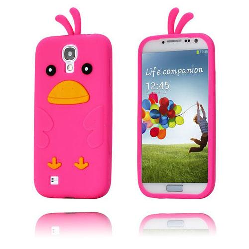 Funny Chicken (Het Rosa) Samsung Galaxy S4 Skal