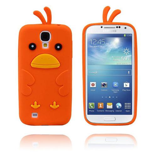 Funny Chicken (Orange) Samsung Galaxy S4 Skal