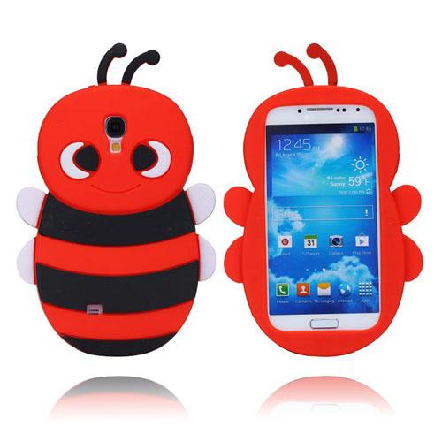 Bee (Röd) Samsung Galaxy S4 Silikonskal