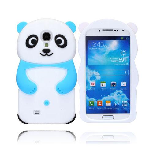 Panda (Ljusblå) Samsung Galaxy S4 Skal