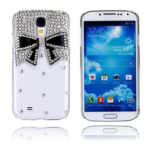 Luxury Bling (Svart Rosett) Samsung Galaxy S4 Skal
